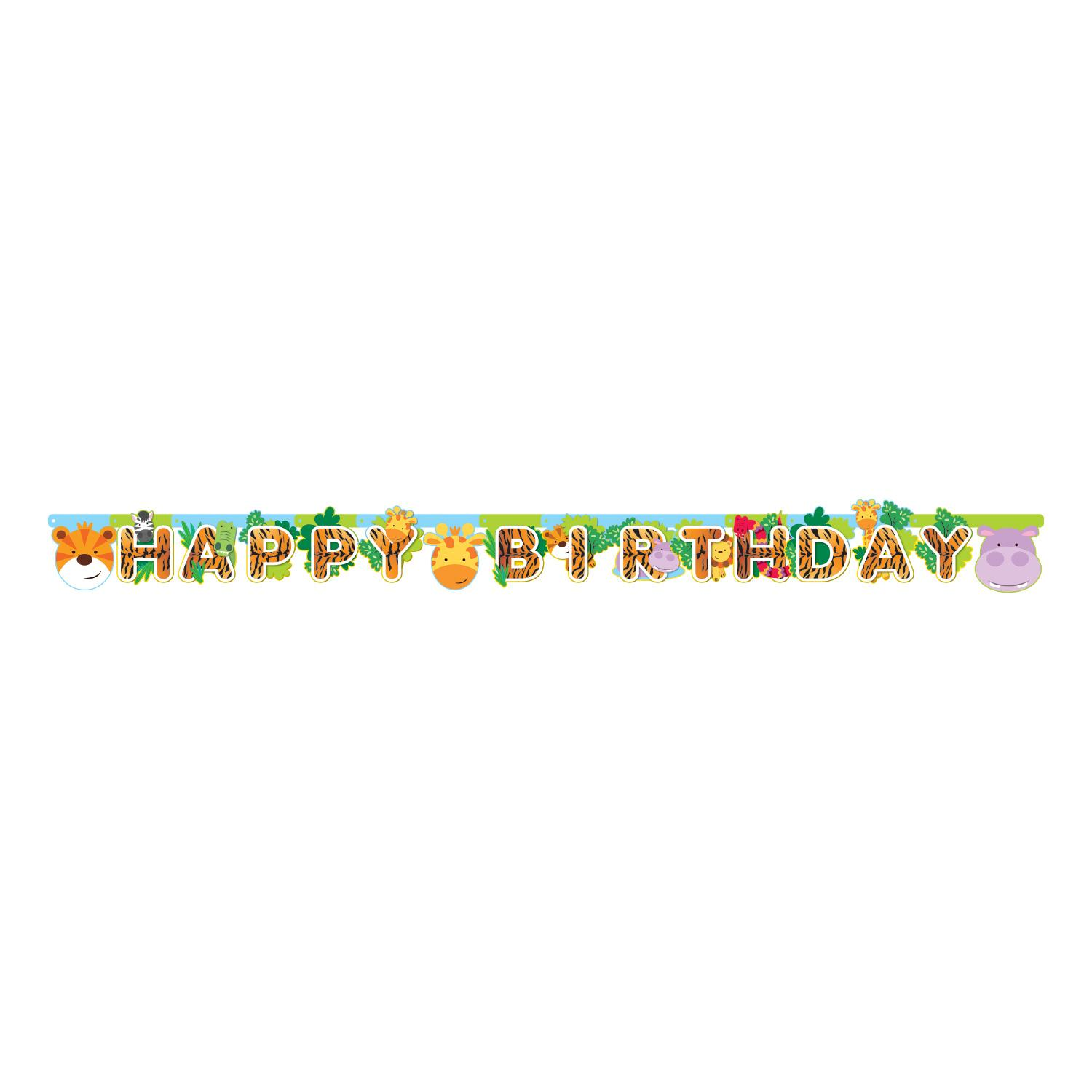 Jungle Friends Letter Birthday Banner