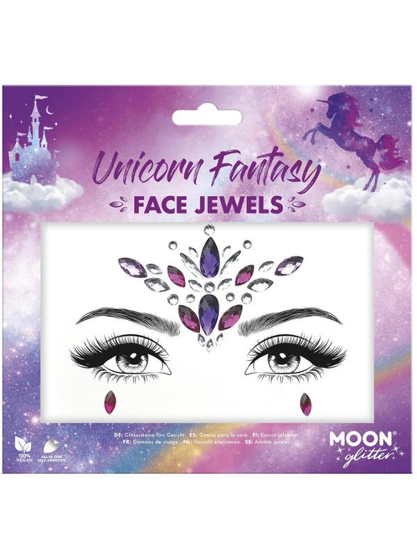 Glitter Face Jewels Unicorn Fantasy