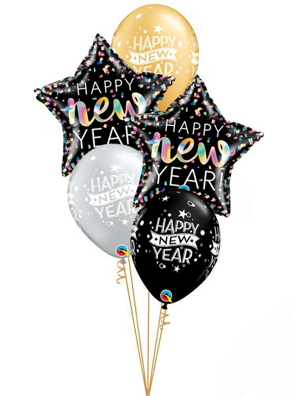 New Years Eve Classic Balloon Bouquet