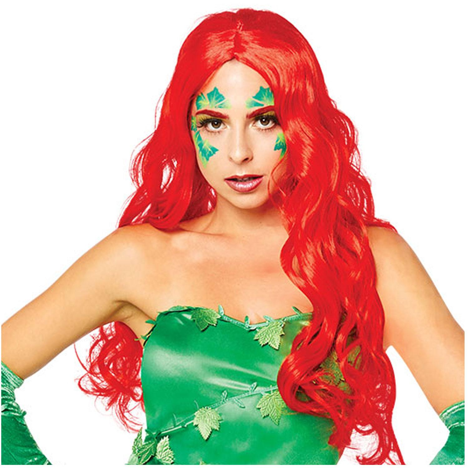 Poison Ivy Wig Red