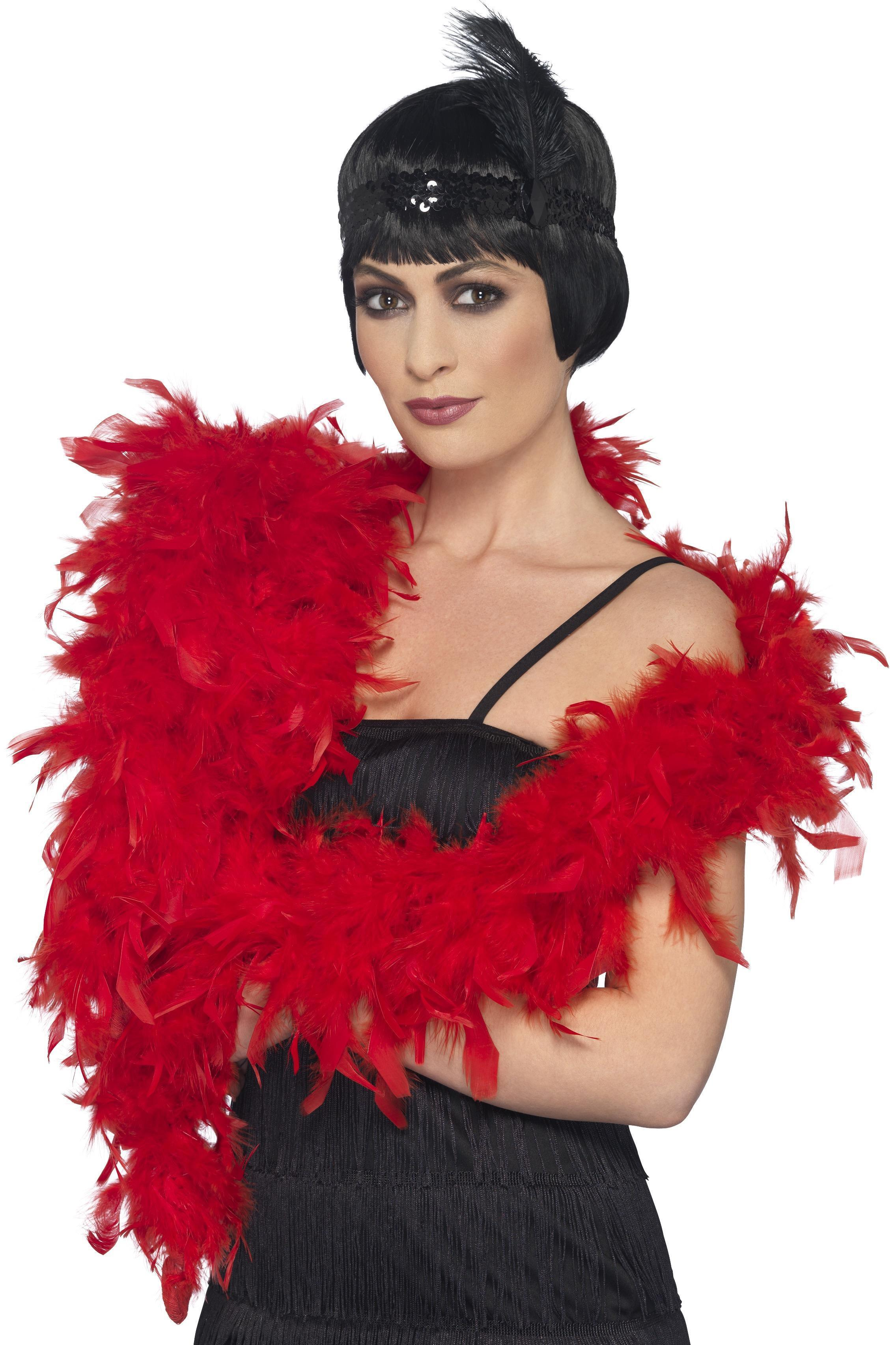 Deluxe Feather Boa Red