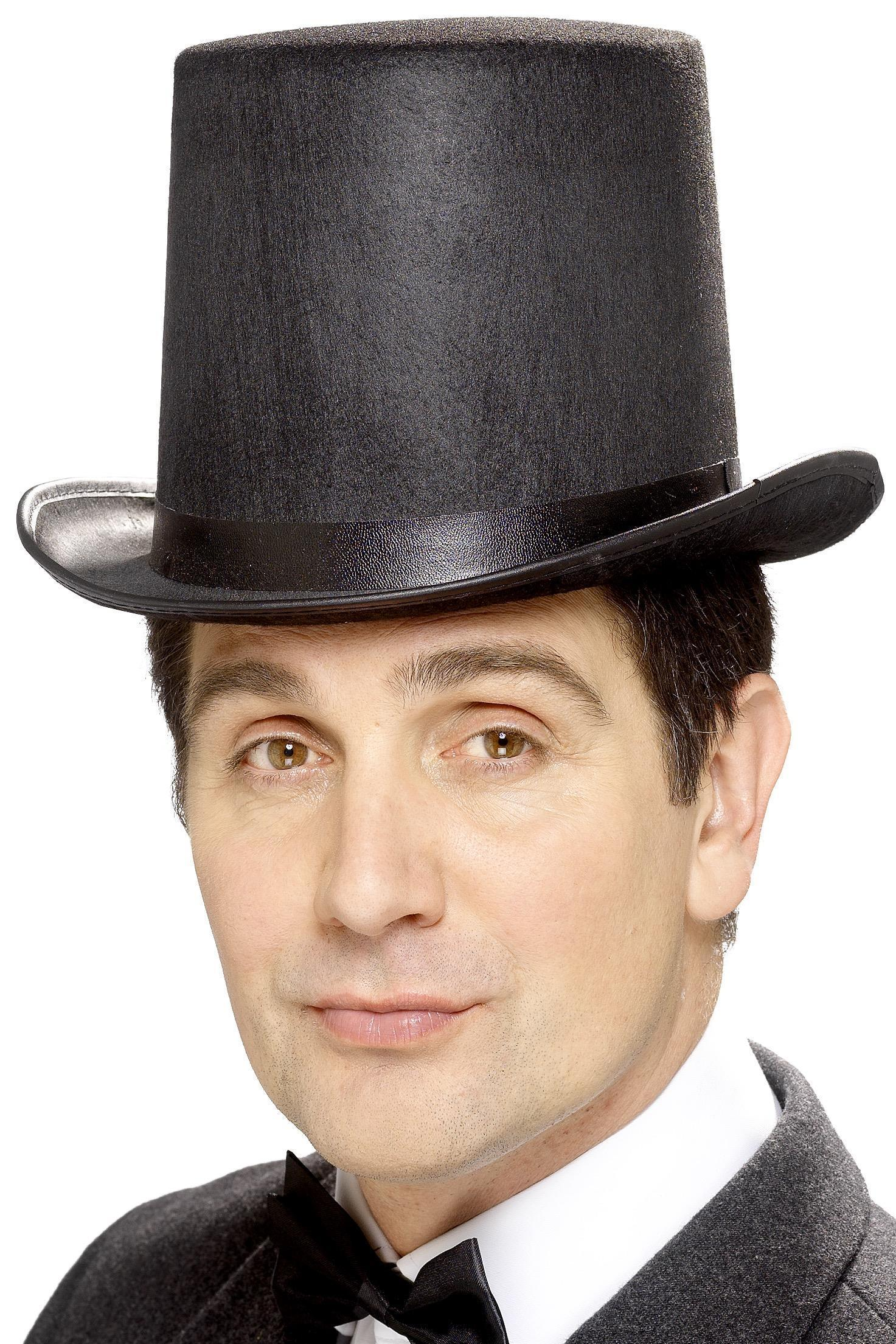 Stovepipe Top Hat Black