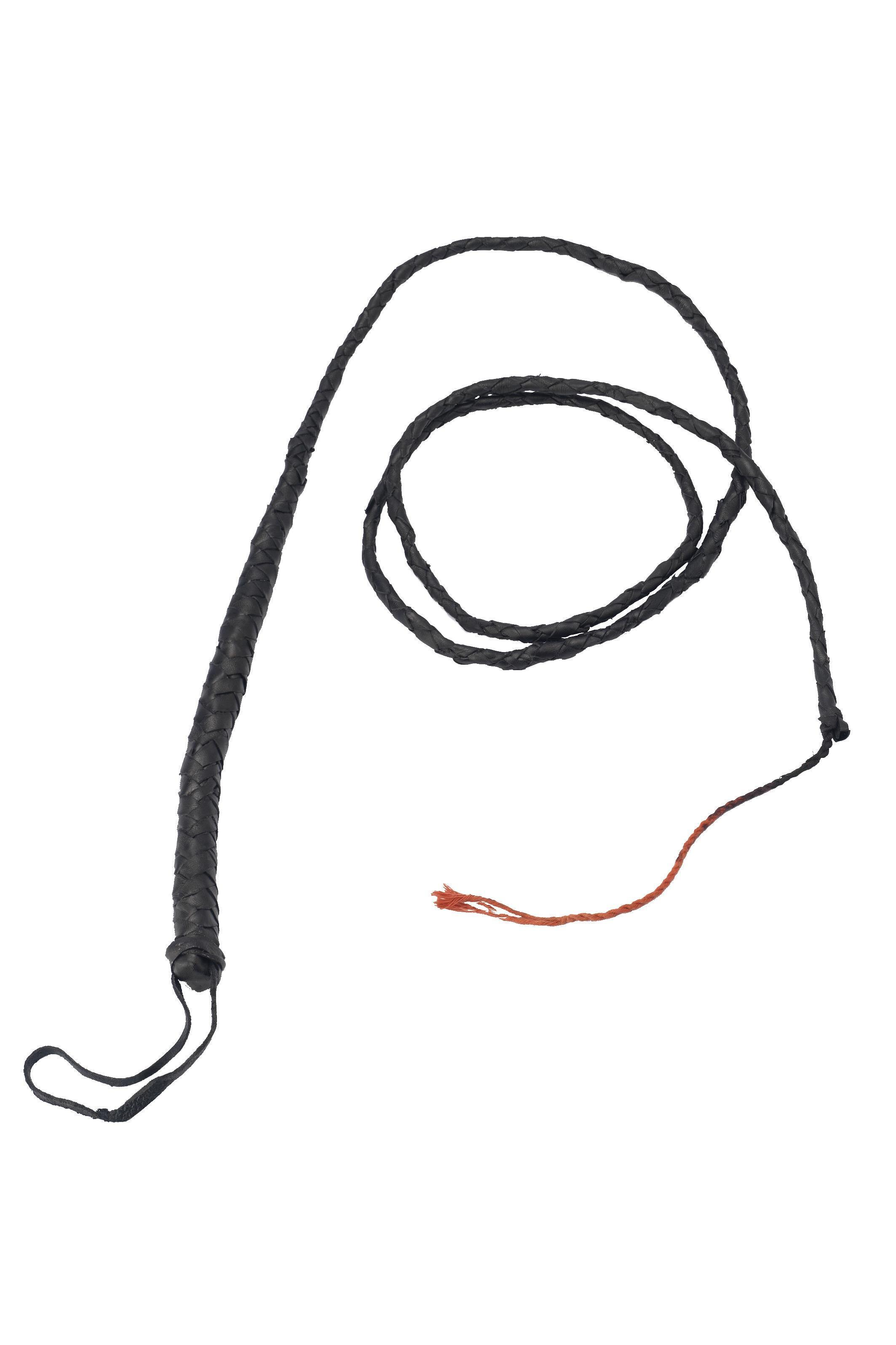 Long Bull Whip Black