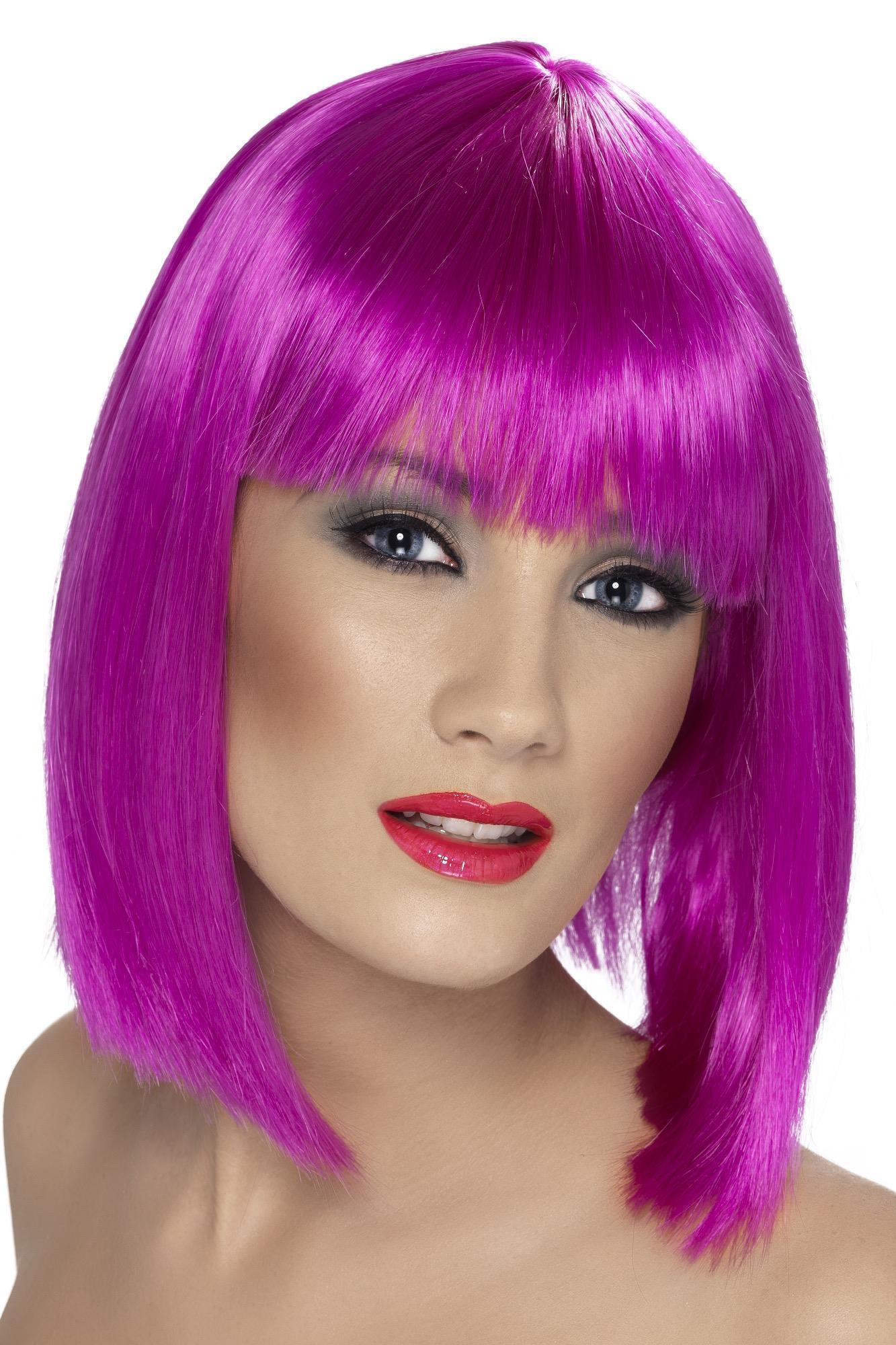 Glam Wig Neon Purple