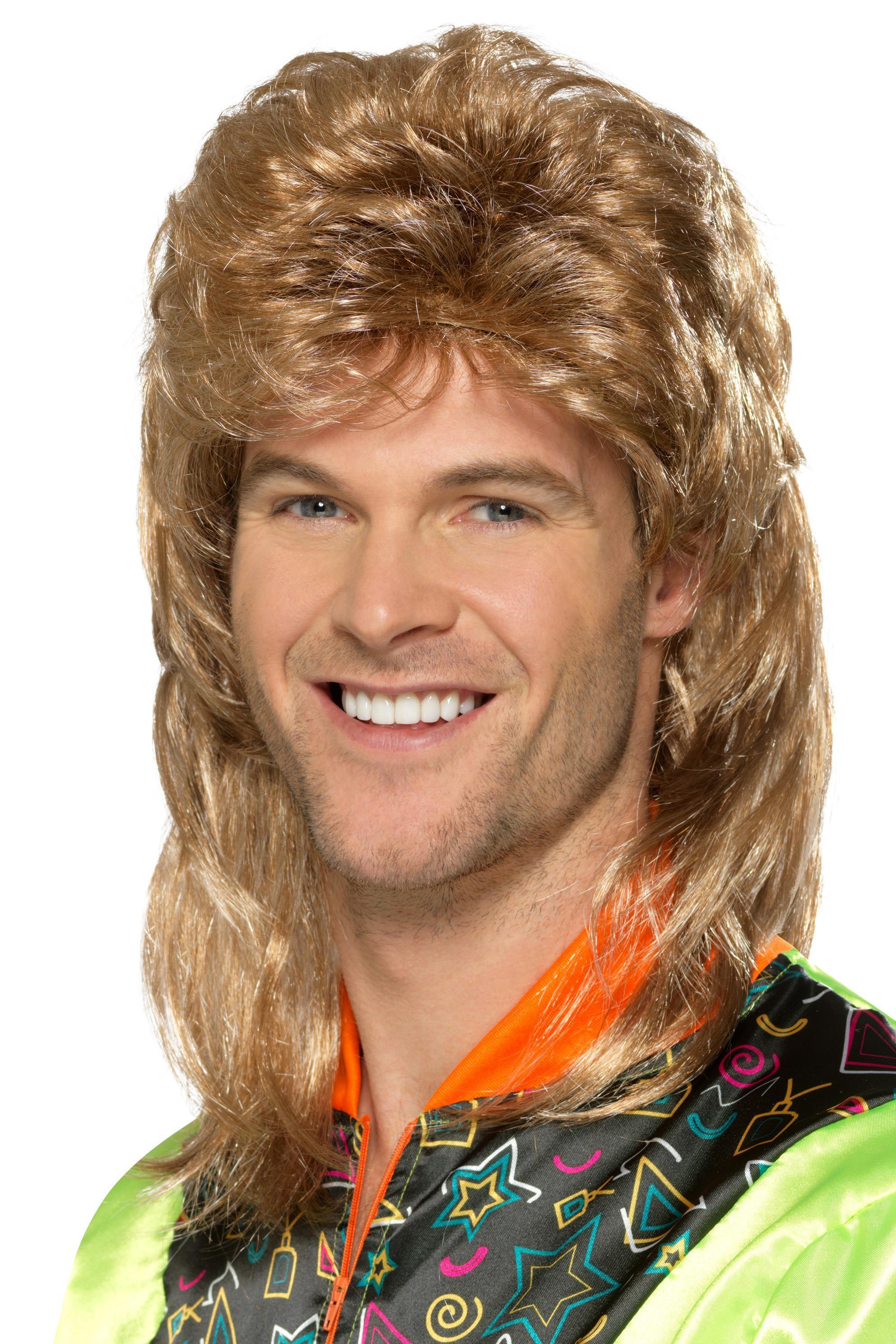 80s Mullet Wig Blonde Brown Mix