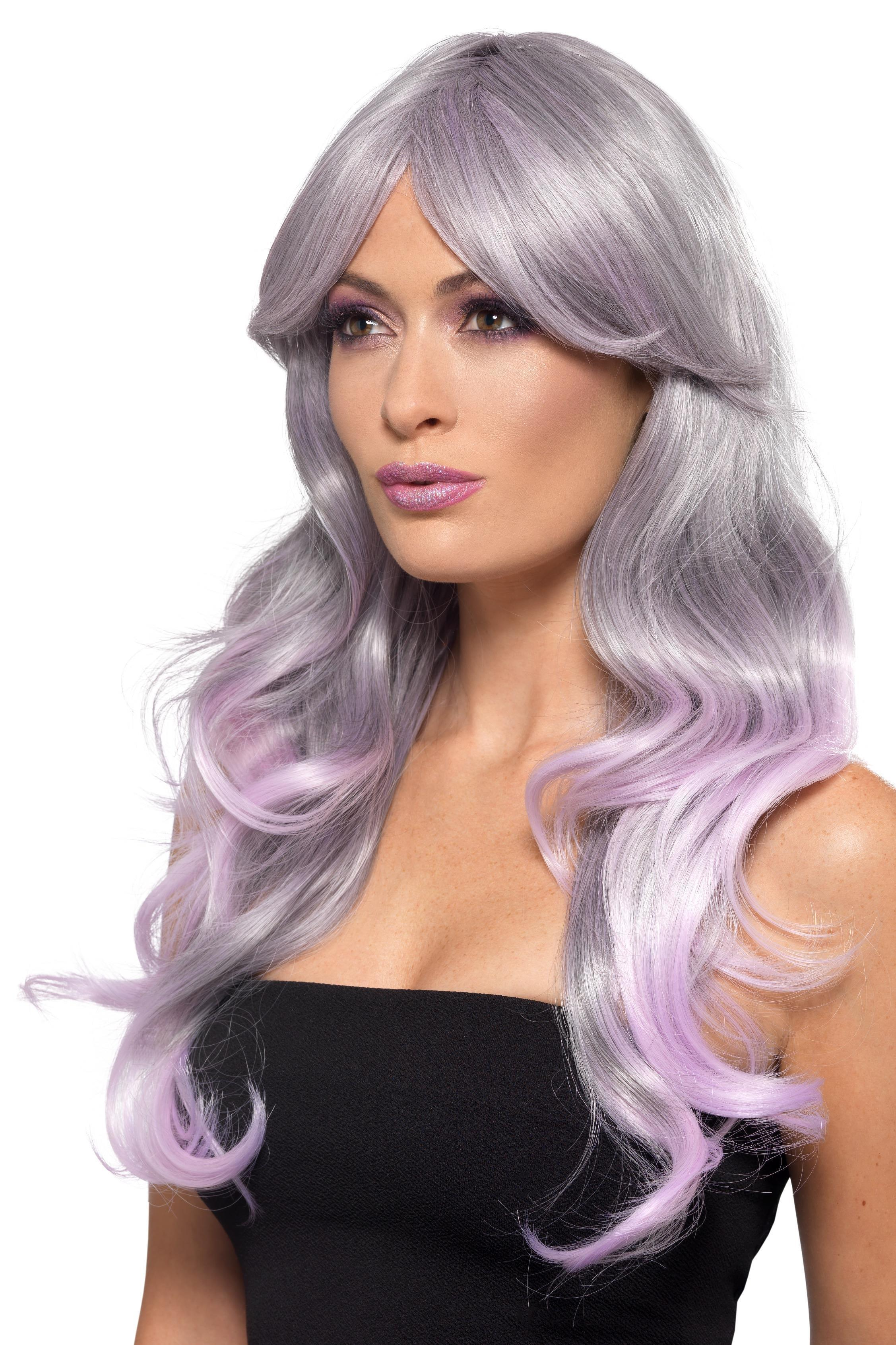 Fashion Ombre Wig Grey & Pink