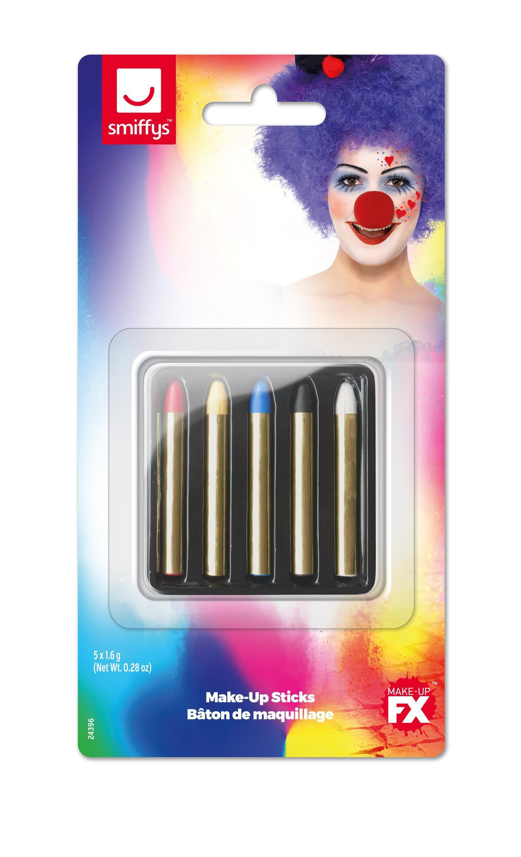 Smiffys Make-Up Sticks in 5 Colours