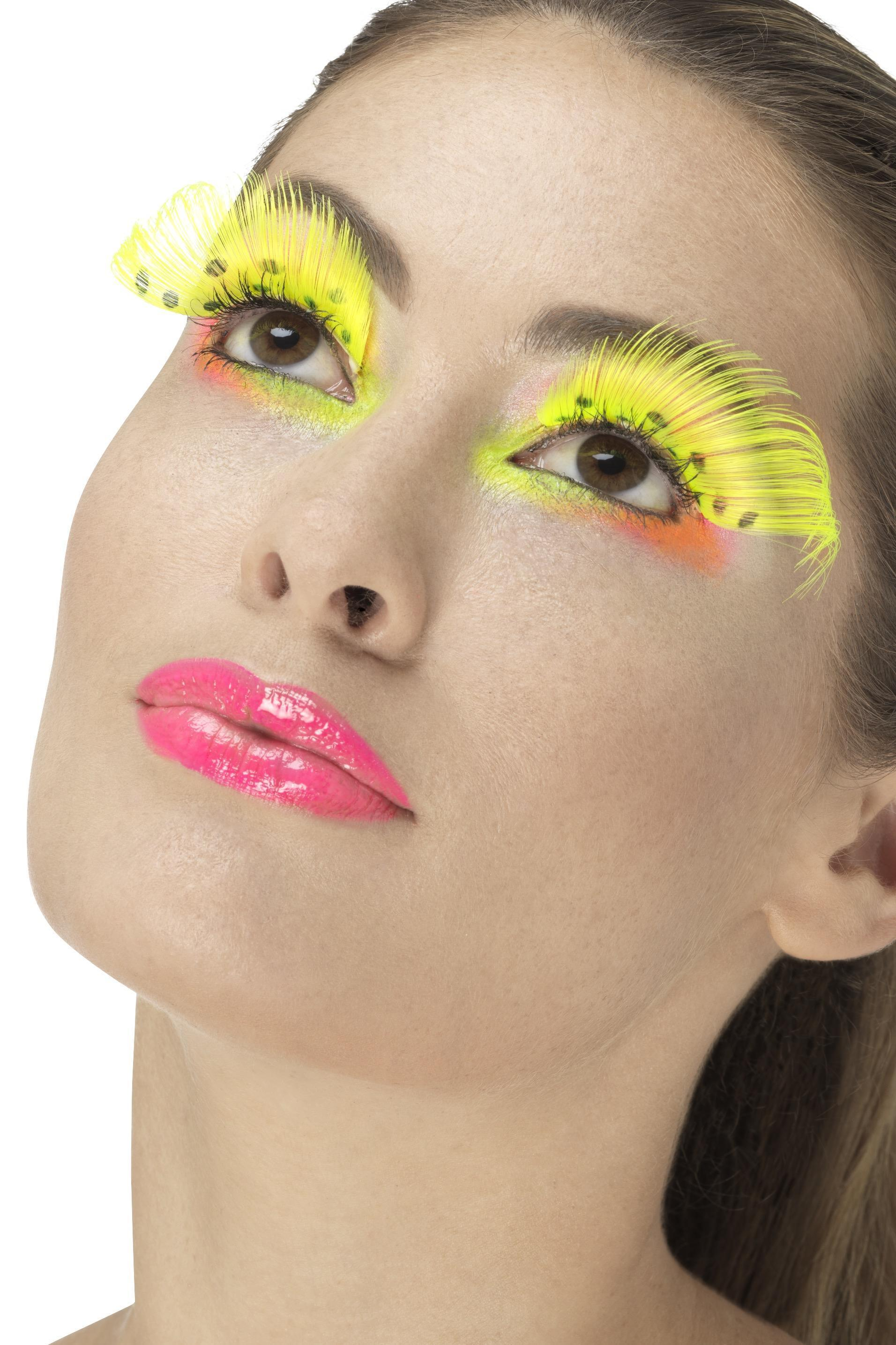 Polka Dot Eyelashes Neon Yellow