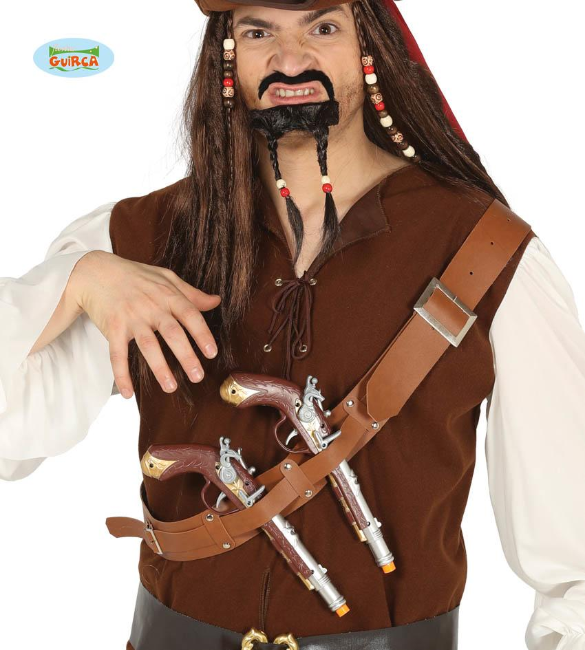 Pirate Cartridge Belt with Pistols