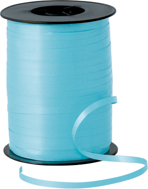 Balloon Curling Ribbon Light Blue