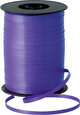 Balloon Curling Ribbon Purple