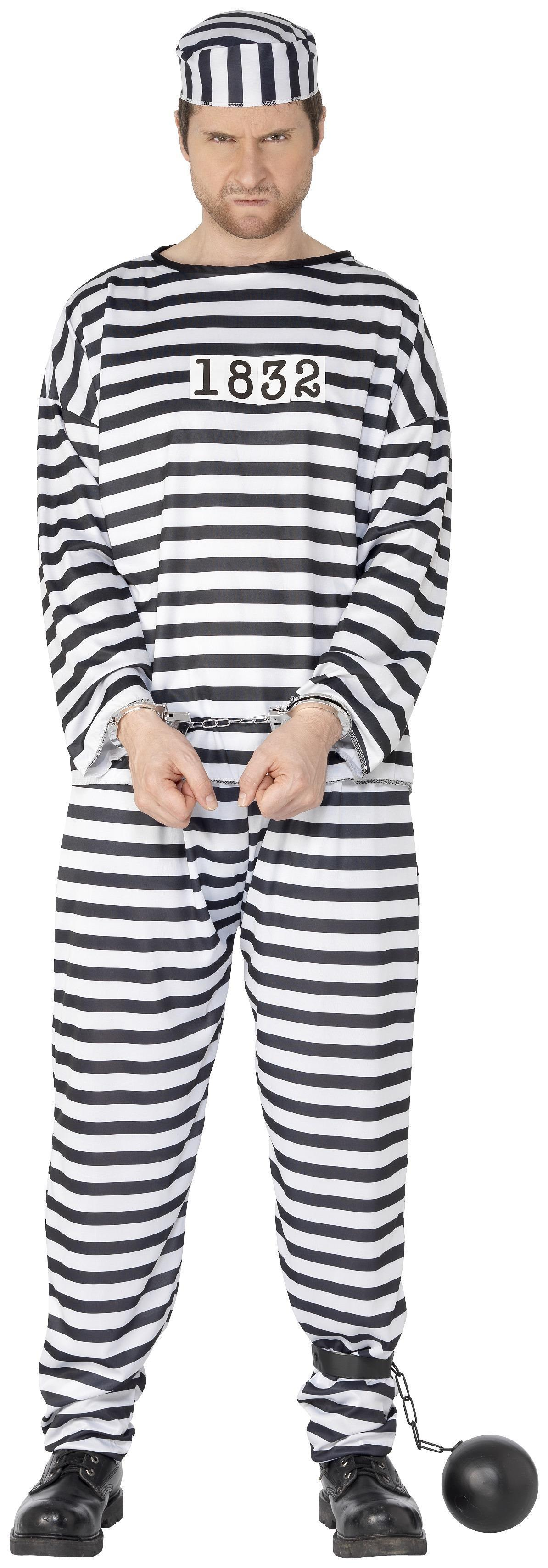 Convict Costume Black & White