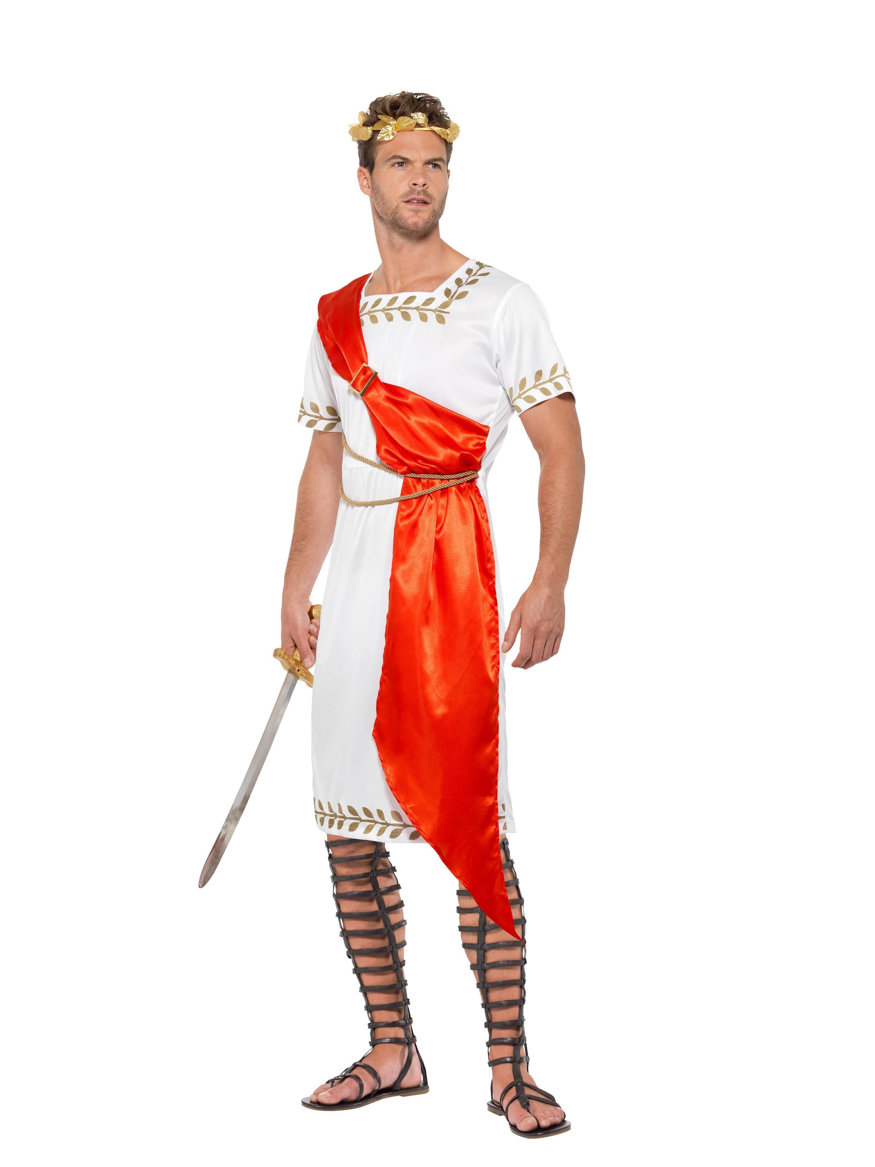 Roman Senator Costume White & Red