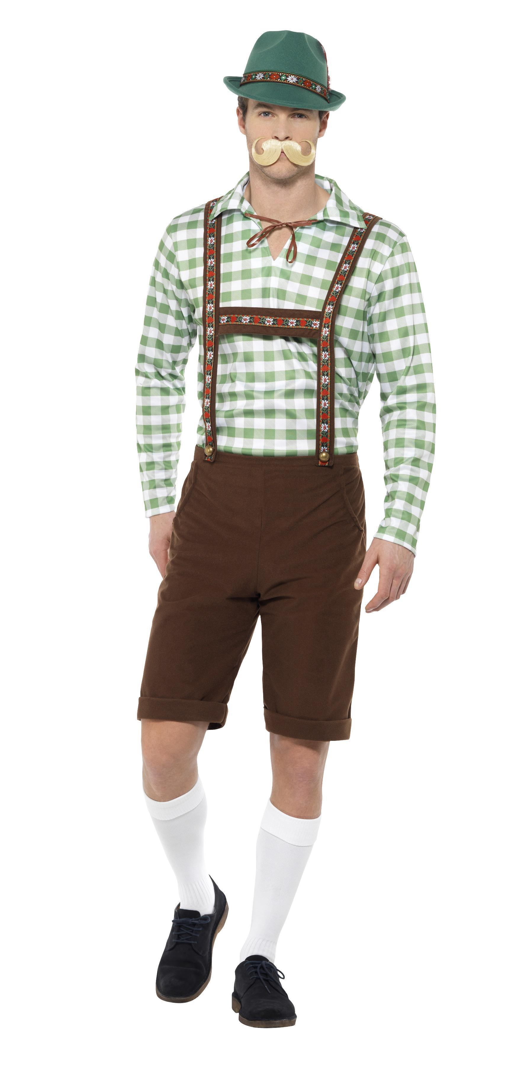Alpine Bavarian Costume Green & Brown