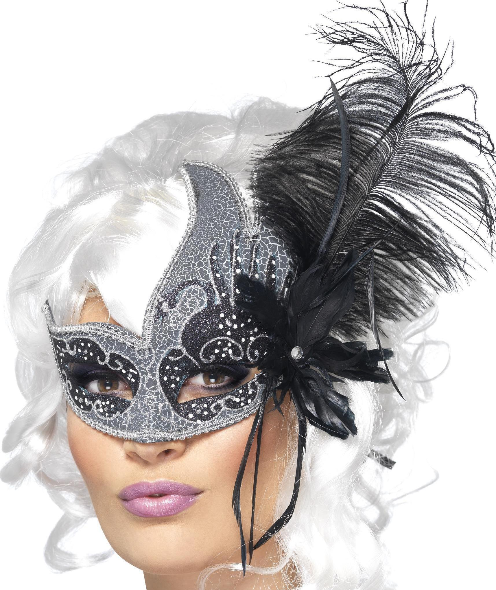 Dark Angel Eye mask Silver & Black