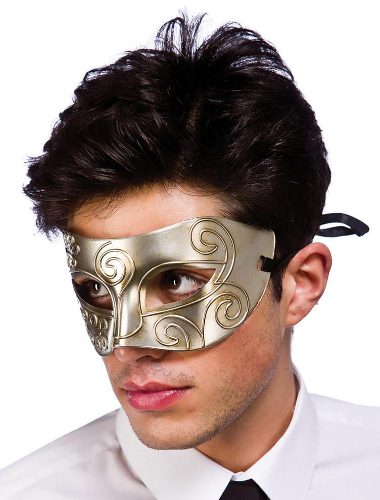 Rome Eye Mask Antique Silver
