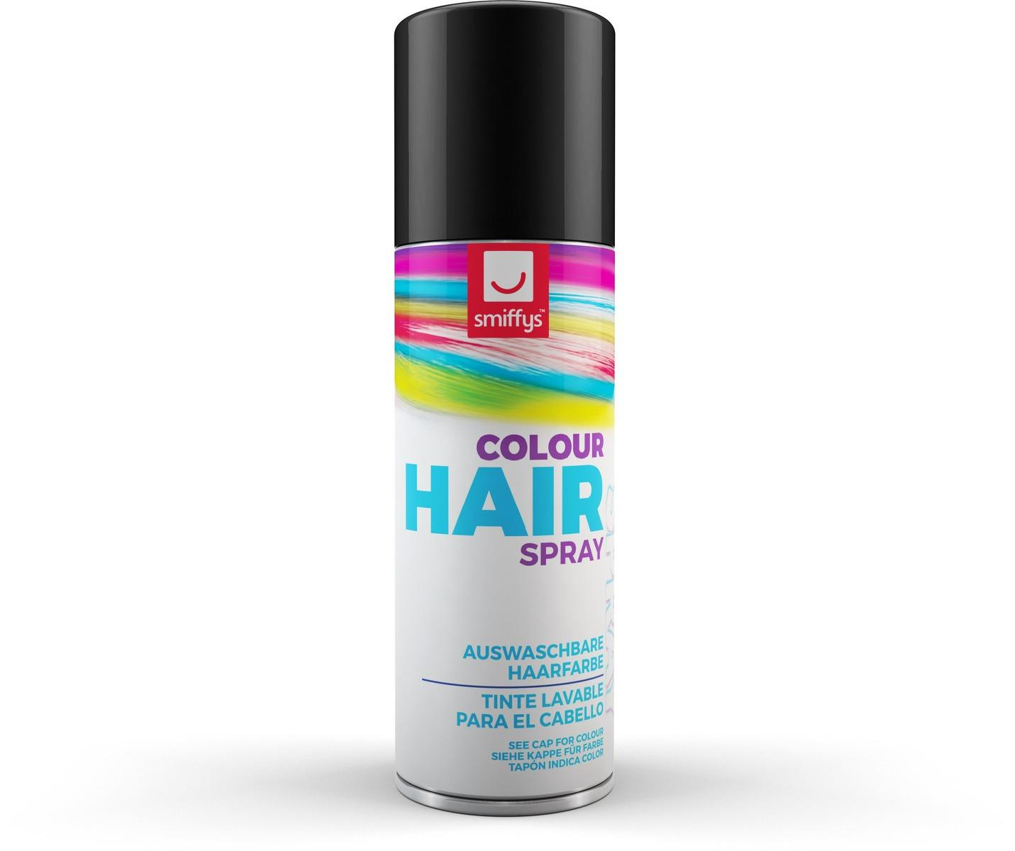 Coloured Hair Spray Black
