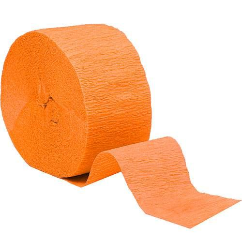 Crepe Streamer Roll Bright Orange