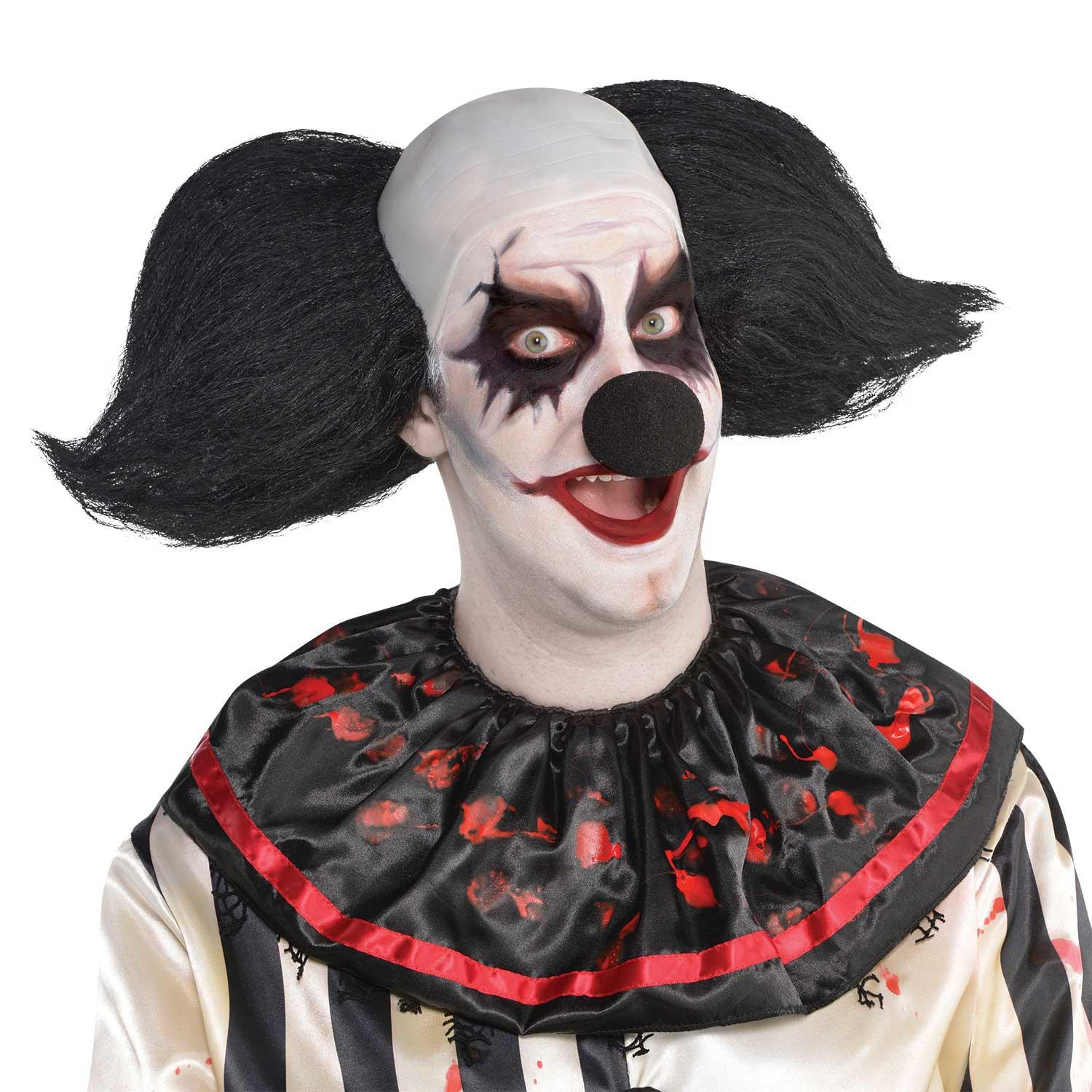 Freak Show Clown Wig Black