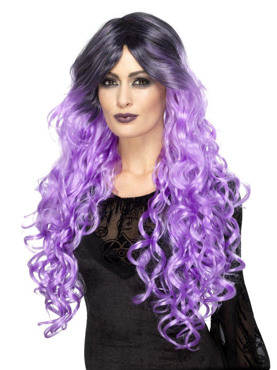 Gothic Glamour Wig Lilac Purple