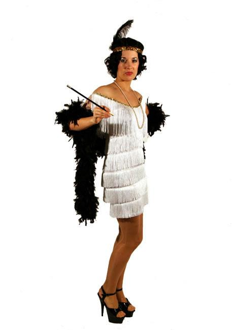 1920s Flapper White Hire Costume