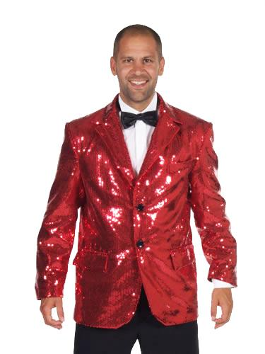 Sequin Jacket Red Costume