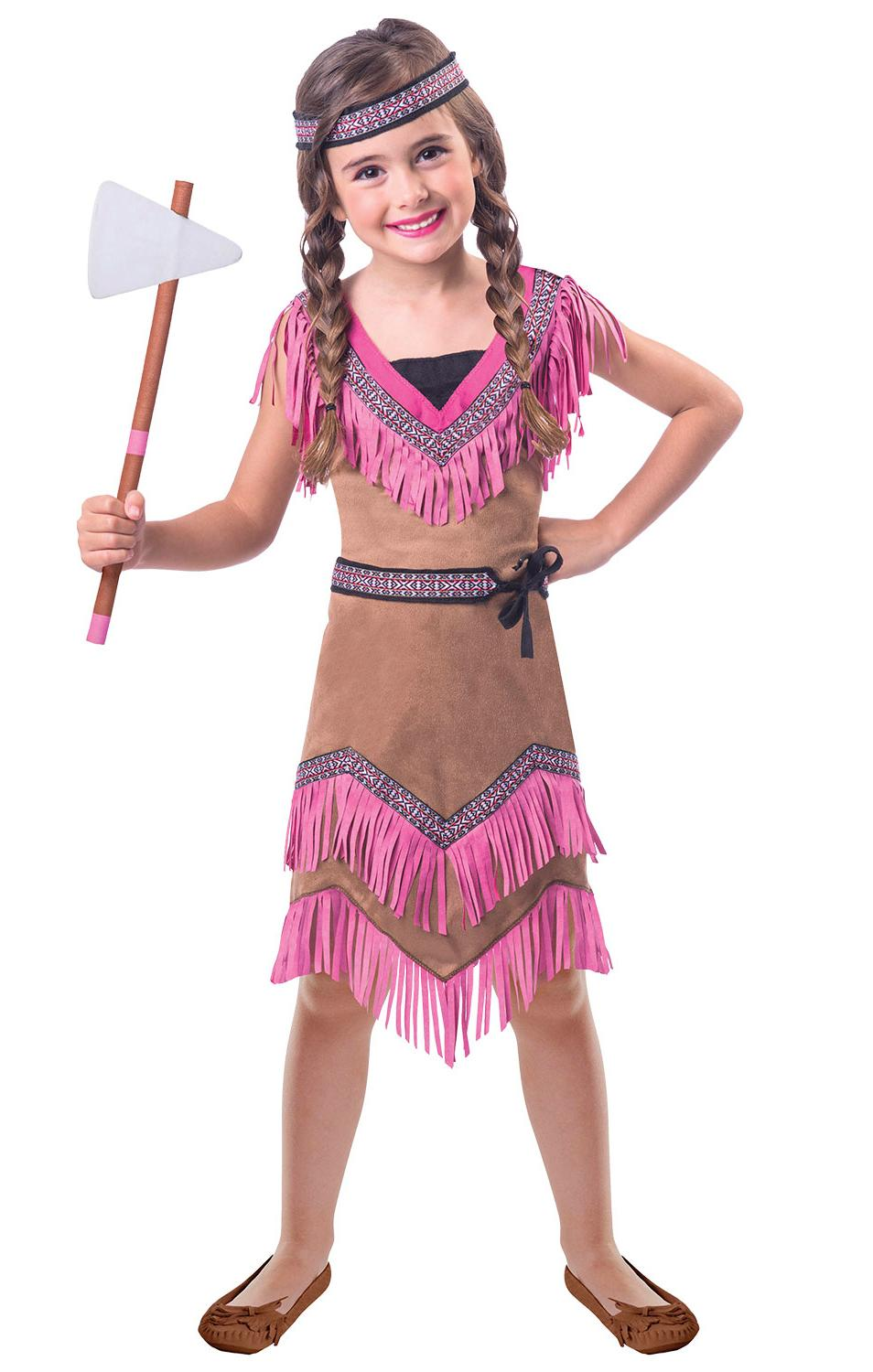 Kids Native American Indian Squaw Costume