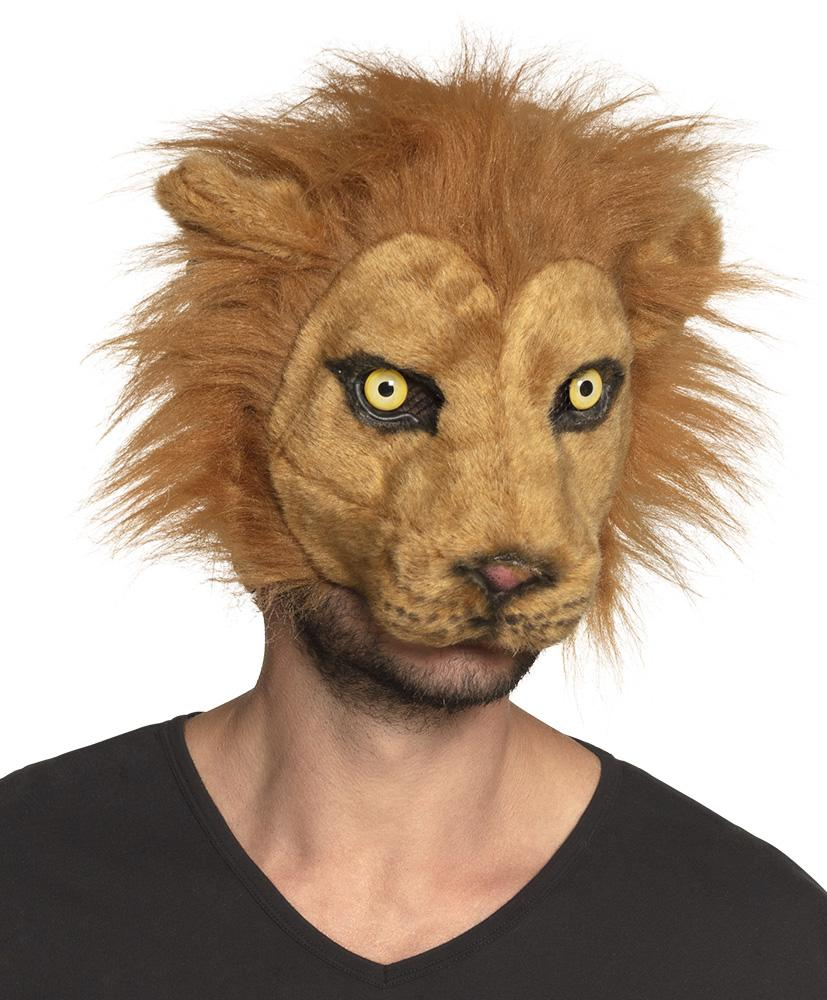 Plush Lion Half Mask