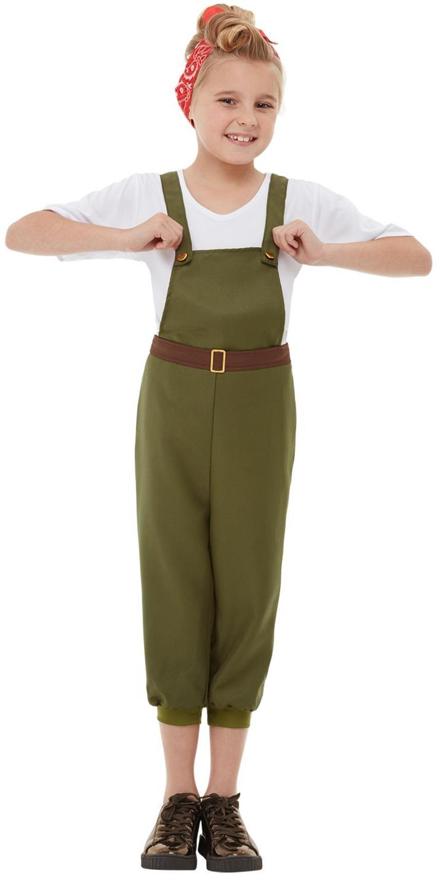 Kids WW2 Little Land Girl Costume