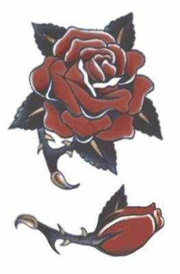 Vintage Tattoo FX Red Rose Design