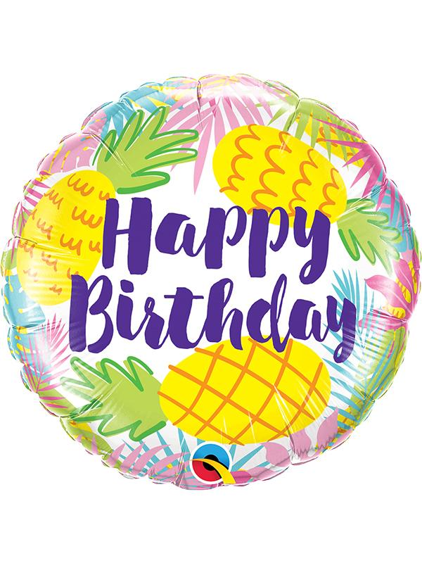 Foil Balloon Birthday Pineapples