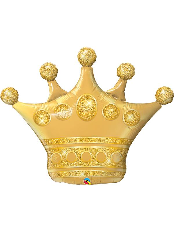 Foil Balloon Golden Crown