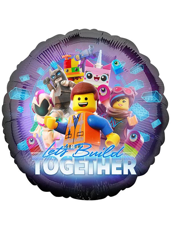 Foil Balloon Lego Movie 2 Round