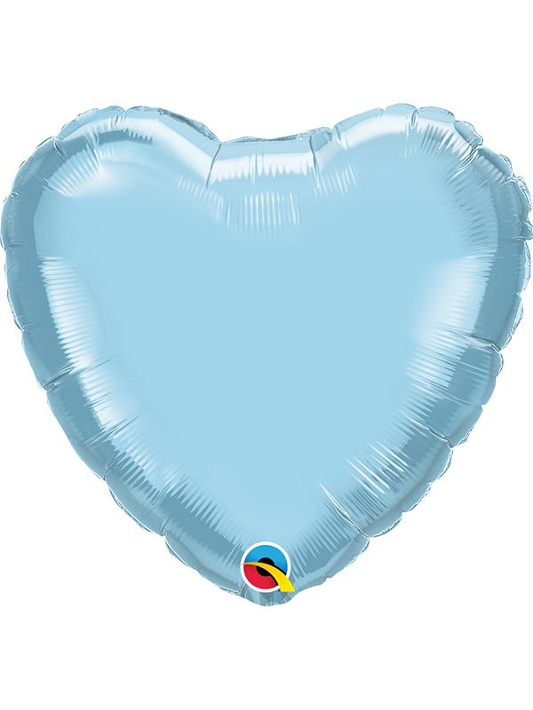 Foil Balloon Heart Pearl Light Blue