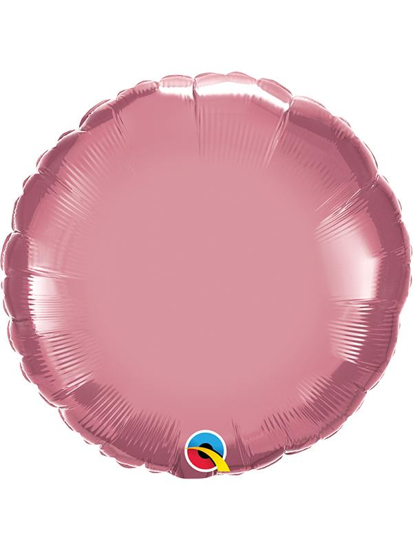 Foil Balloon Round Chrome Mauve Pink