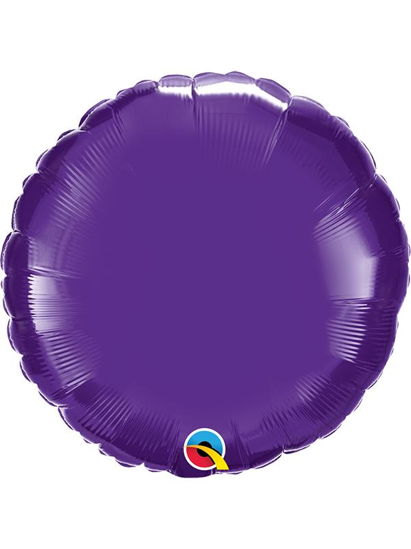 Foil Balloon Round Quartz Purple
