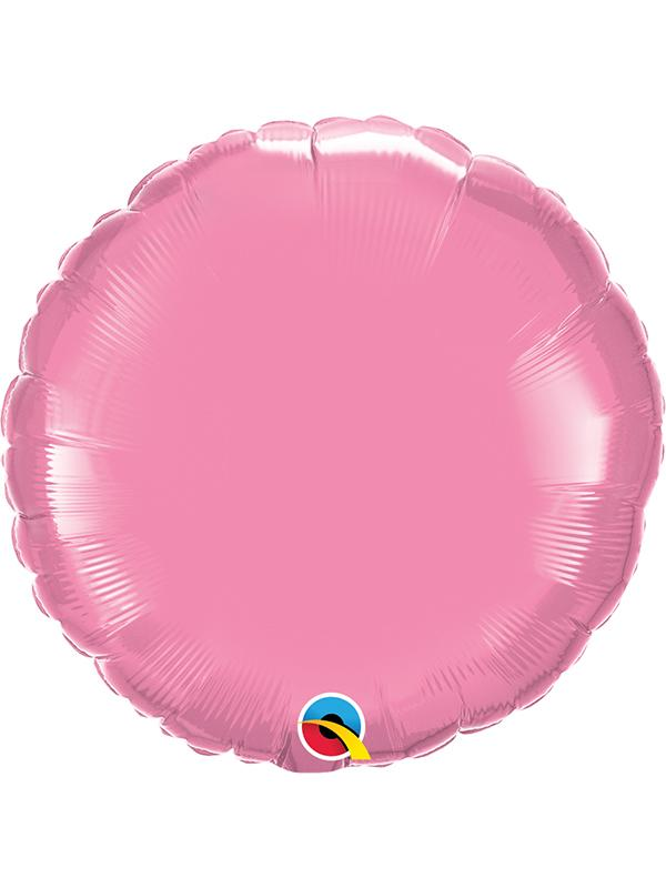 Foil Balloon Round Rose Pink