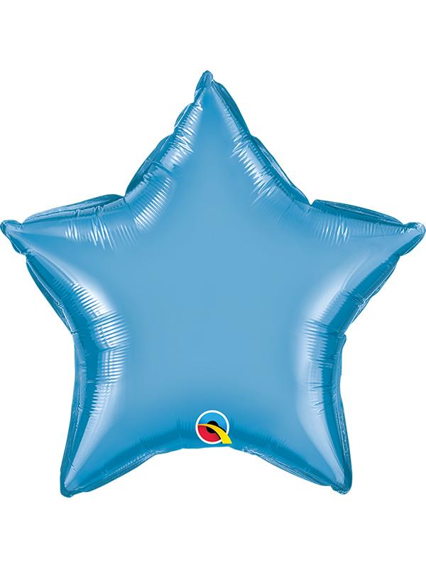 Foil Balloon Star Chrome Blue