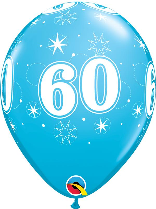 Latex Balloons Blue Age 60