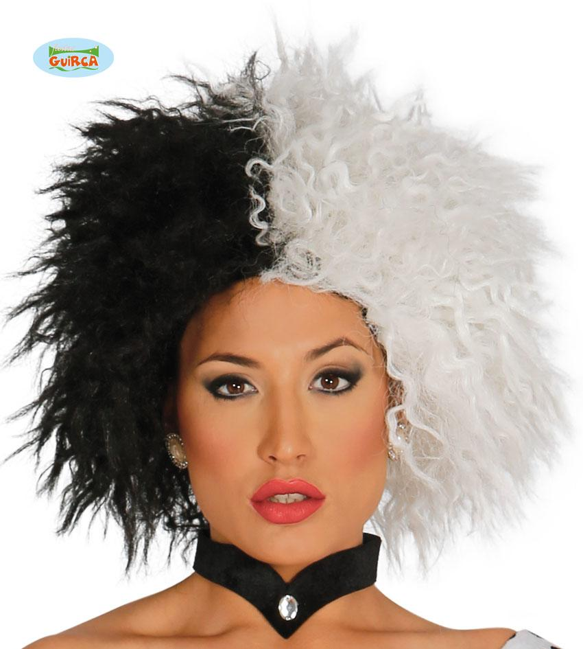 Cruella Wig Black & White