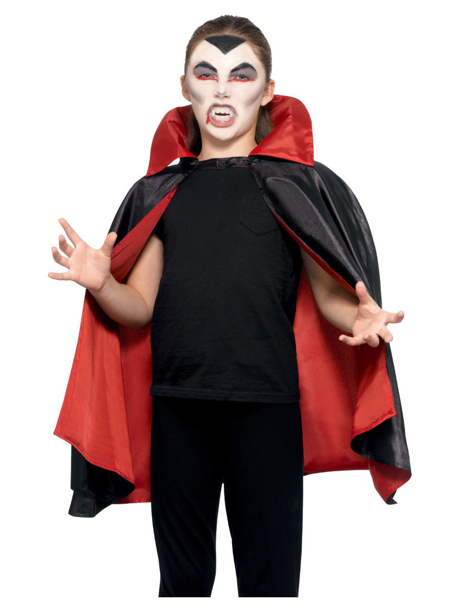 Kids Reversible Vampire Cape Black & Red