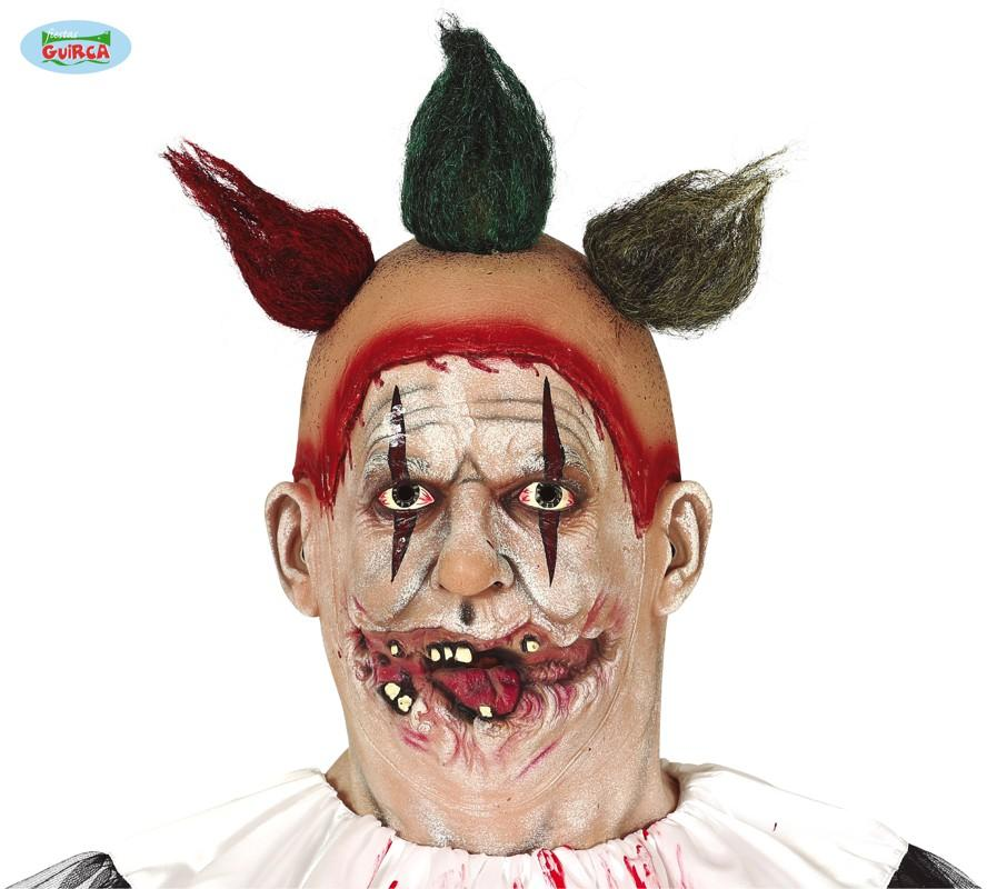 Creepy Clown Mask with Hair