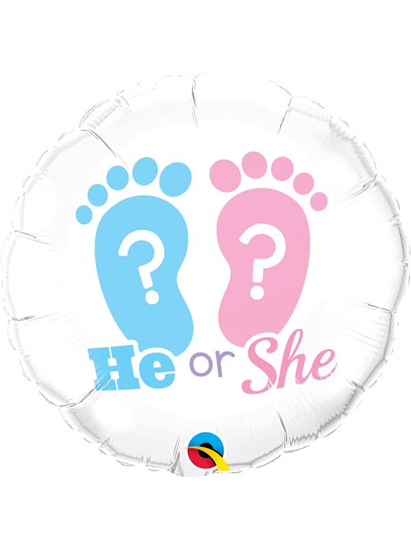 Foil Balloon He or She Gender Reveal