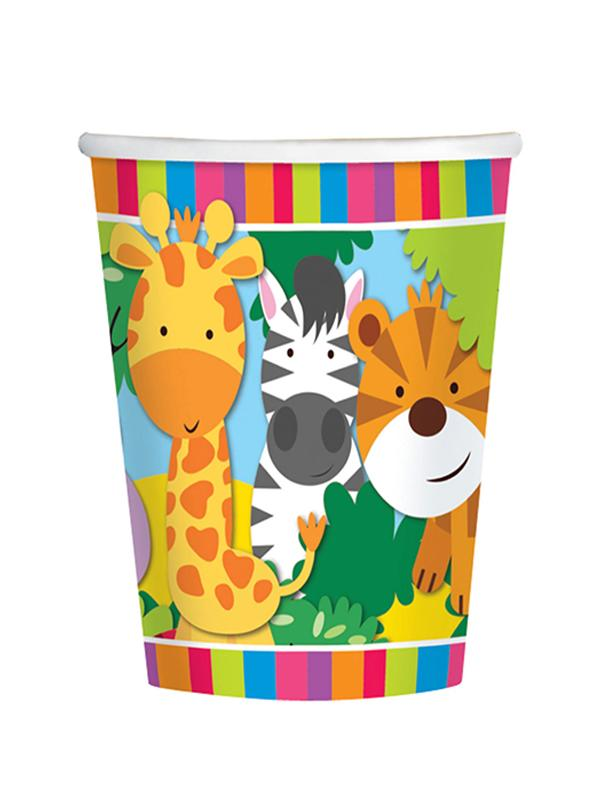 Paper Cups Jungle Friends