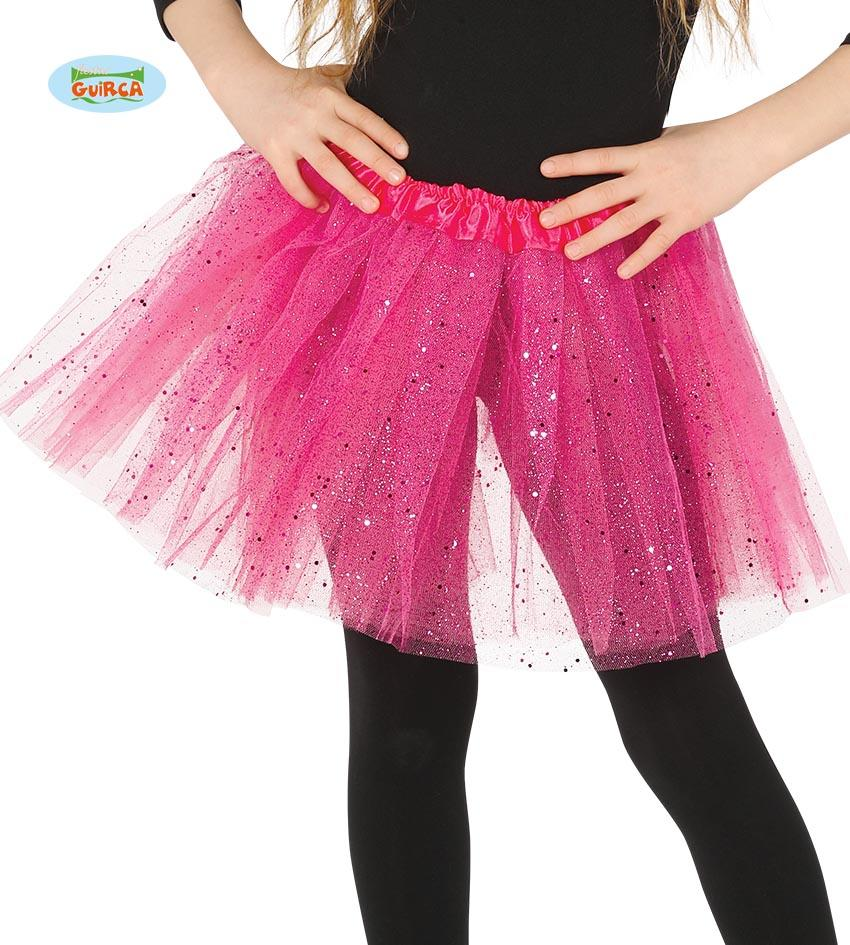 Kids Sparkle Tutu Bright Pink 31cm