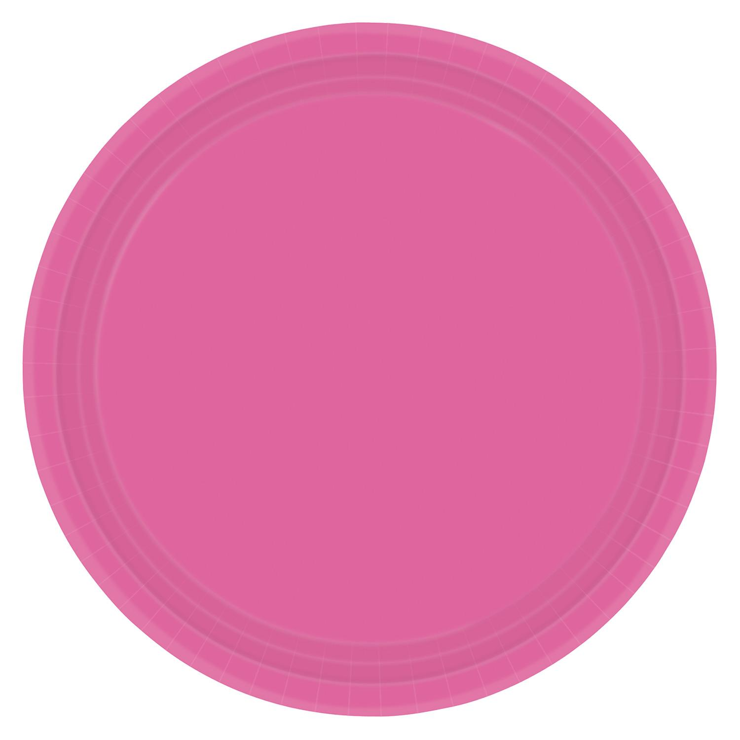 Paper Plates Bright Pink 8 Pack