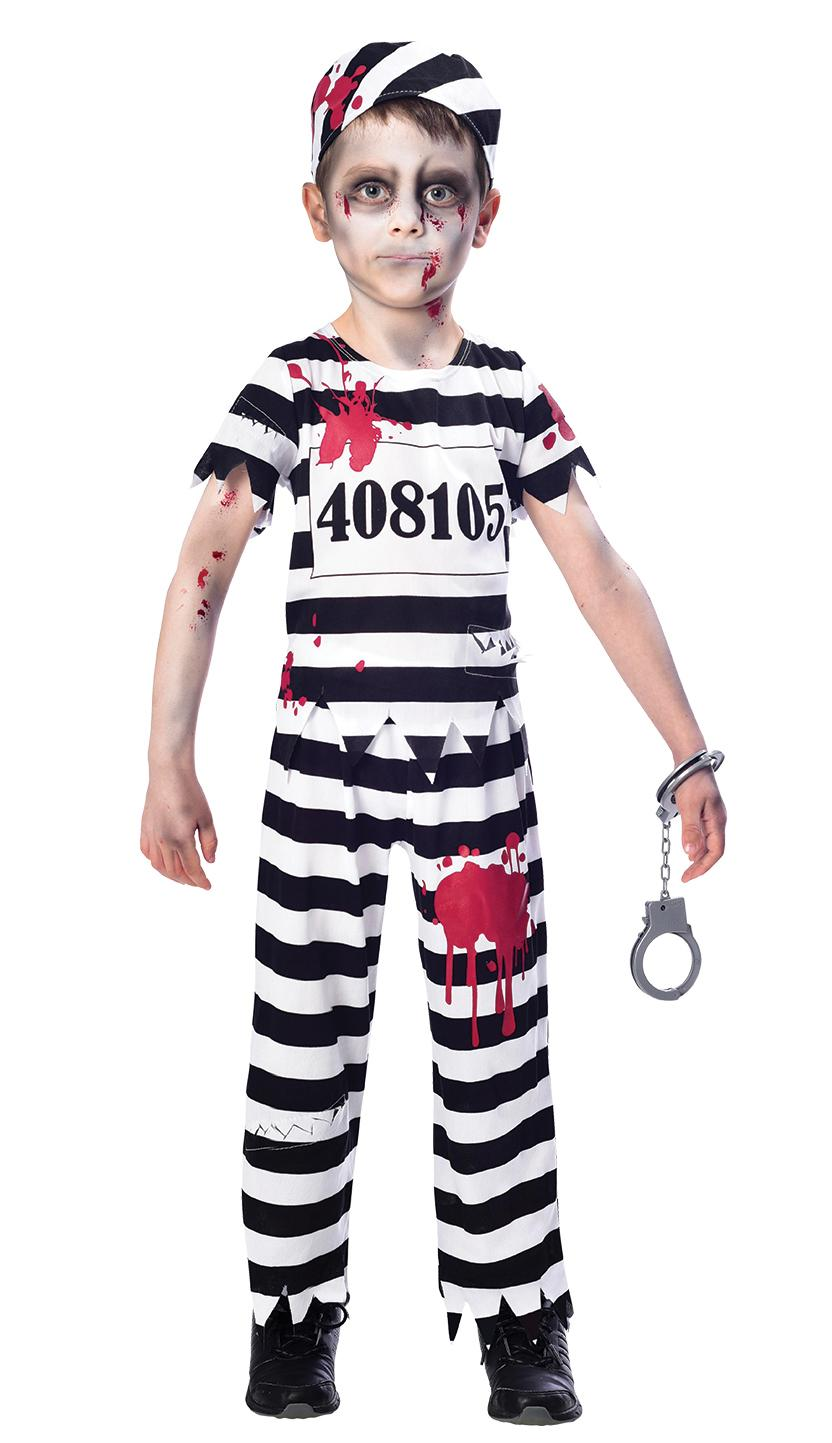 Kids Zombie Convict Boy Costume