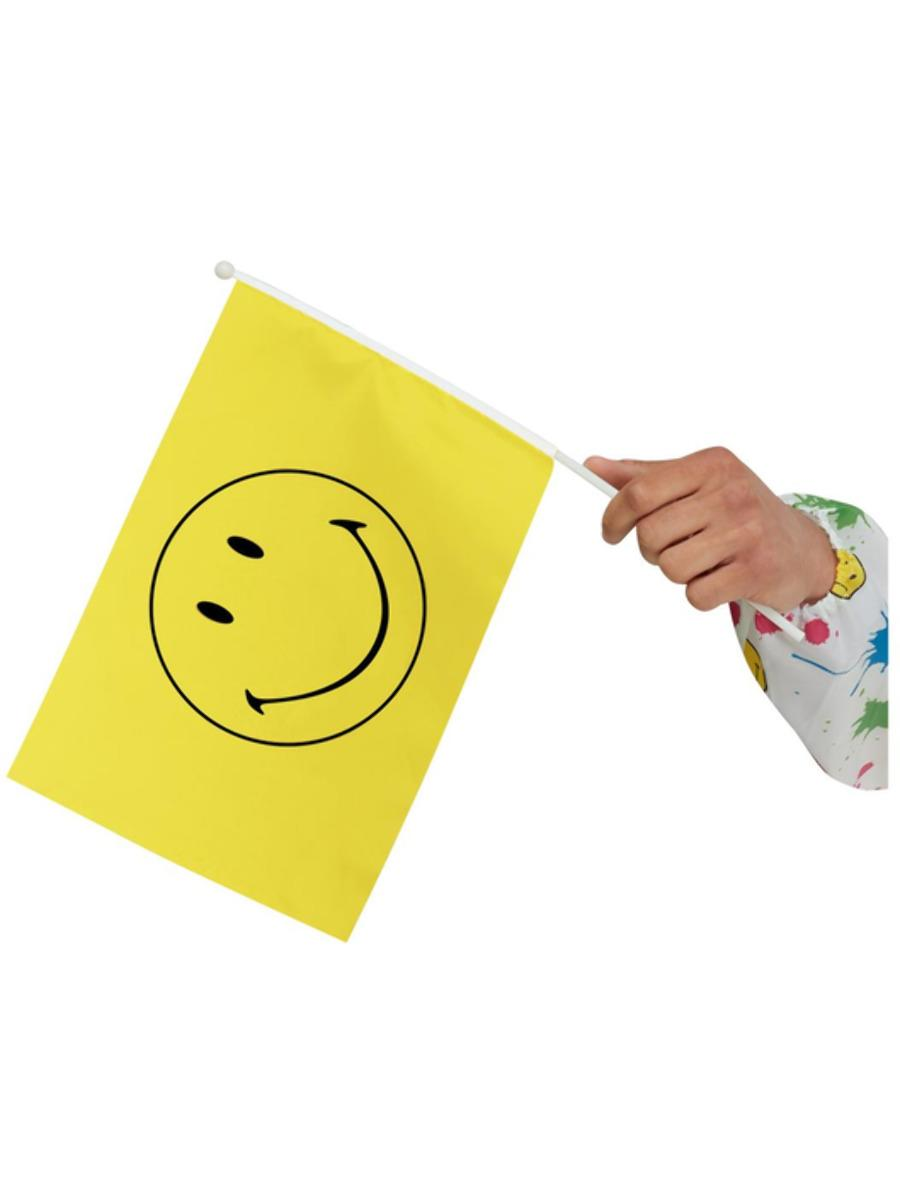 Smiley Small Handheld Flag, Yellow, Pack of 5