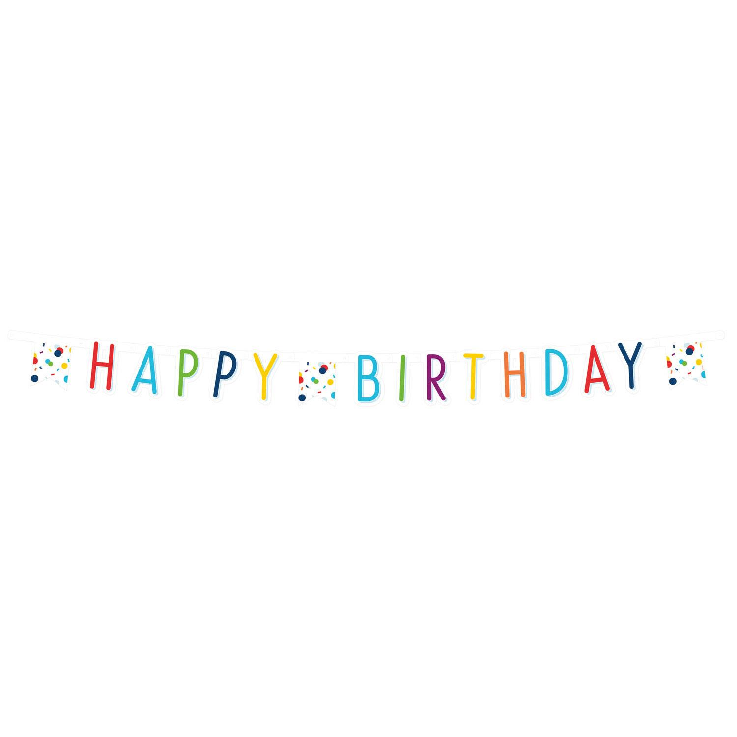 Birthday Letter Banner Confetti Dots