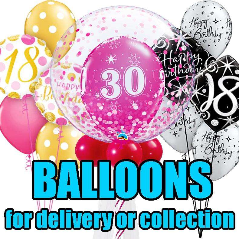 Balloons for delivery very or collection